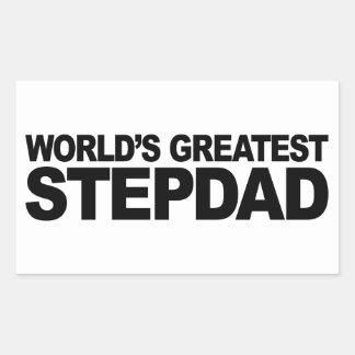 World's Greatest Stepdad Rectangular Sticker
