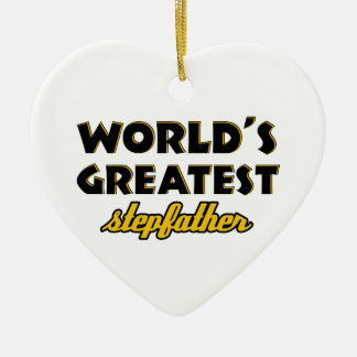 World's greatest stepfather christmas tree ornament