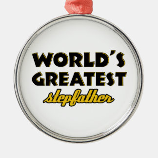 World's greatest stepfather ornaments
