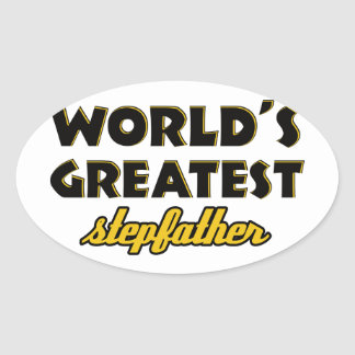 World's greatest stepfather oval sticker