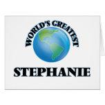 World's Greatest Stephanie Card