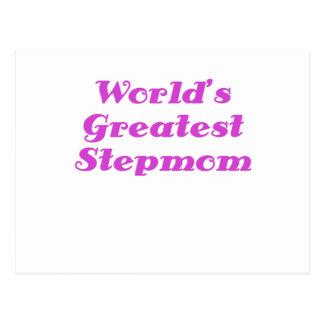 Worlds Greatest Stepmom Postcard