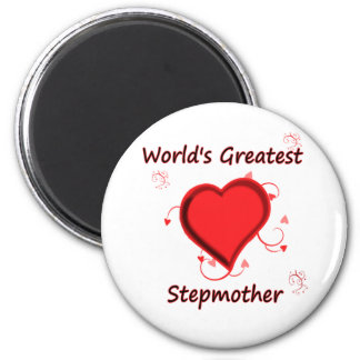 World's Greatest stepmother 2 Inch Round Magnet