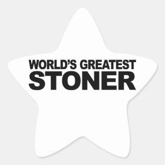 World's Greatest Stoner Star Sticker