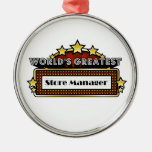World's Greatest Store Manager Round Metal Christmas Ornament