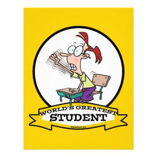 WORLDS GREATEST STUDENT GIRL CARTOON FLYERS