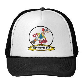 WORLDS GREATEST STUNTMAN MEN CARTOON TRUCKER HAT
