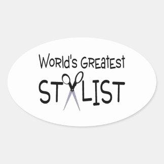 Worlds Greatest Stylist Oval Sticker