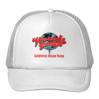 World's Greatest Substance Abuse Nurse Trucker Hats