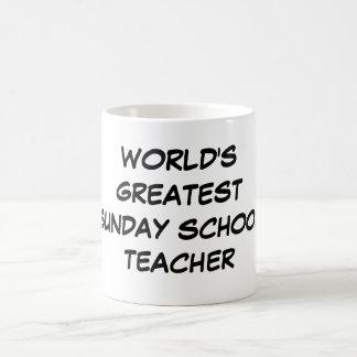 """World's Greatest Sunday School Teacher""  Mug"