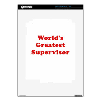 Worlds Greatest Supervisor iPad 2 Decals