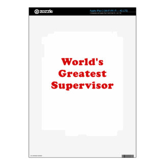 Worlds Greatest Supervisor iPad 3 Decals