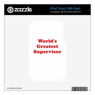 Worlds Greatest Supervisor iPod Touch 4G Decal