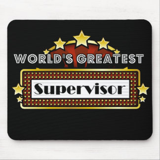 World's Greatest Supervisor Mouse Pad