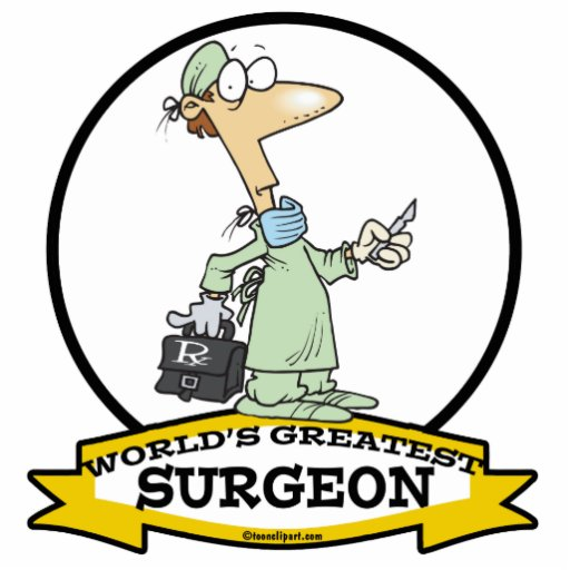 WORLDS GREATEST SURGEON MEN CARTOON PHOTO CUT OUTS