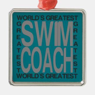Worlds Greatest Swim Coach Metal Ornament
