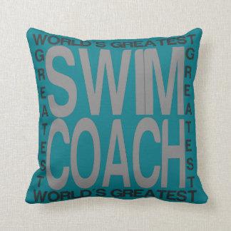 Worlds Greatest Swim Coach Throw Pillow