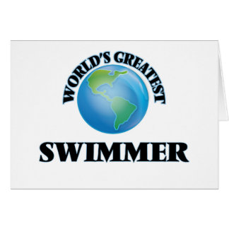 World's Greatest Swimmer Greeting Cards