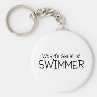 Worlds Greatest Swimmer Keychain