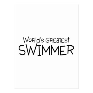 Worlds Greatest Swimmer Post Card