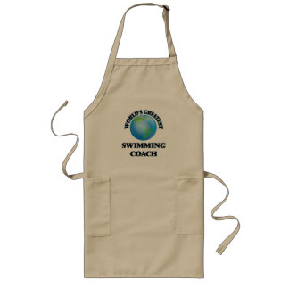 World's Greatest Swimming Coach Long Apron