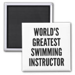 Worlds Greatest Swimming Instructor 2 Inch Square Magnet