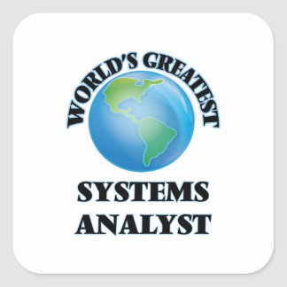 World's Greatest Systems Analyst Square Sticker