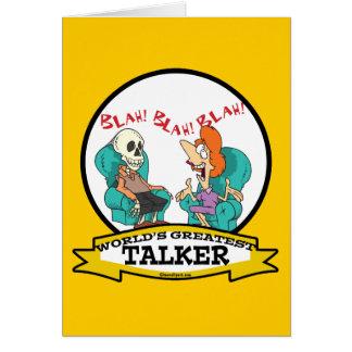 WORLDS GREATEST TALKER WOMEN CARTOON CARD