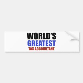 World's greatest Tax Accountant Bumper Sticker
