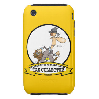 WORLDS GREATEST TAX COLLECTOR MEN CARTOON TOUGH iPhone 3 CASE