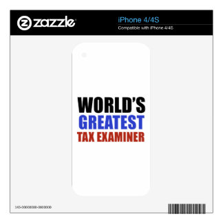 World's greatest TAX EXAMINER Decal For iPhone 4