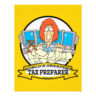 WORLDS GREATEST TAX PREPARER CARTOON FLYER
