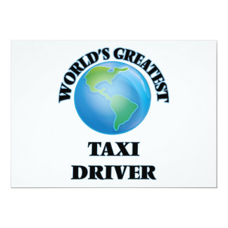 World's Greatest Taxi Driver Card