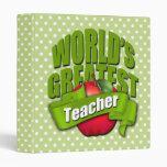 Worlds Greatest Teacher 3 Ring Binders