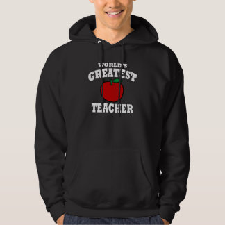 World's Greatest Teacher (apple) Hoodie