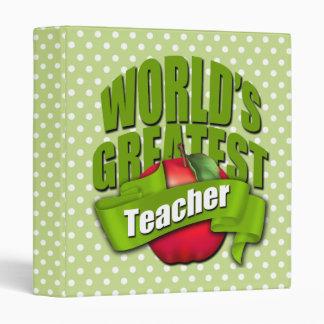 Worlds Greatest Teacher Binder