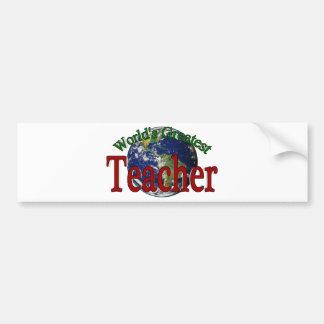 World's Greatest Teacher Bumper Sticker