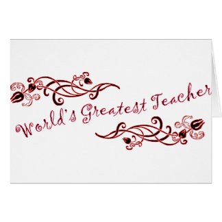 World's Greatest Teacher Card