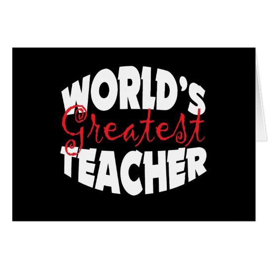 World's Greatest Teacher Card