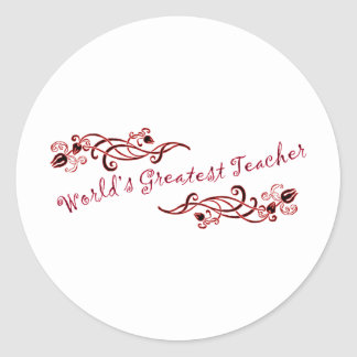 World's Greatest Teacher Classic Round Sticker