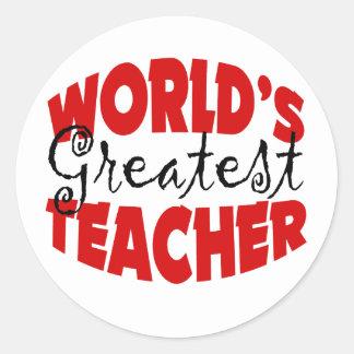 World's Greatest Teacher Classic Round Sticker