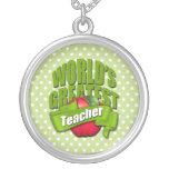 Worlds Greatest Teacher Custom Necklace