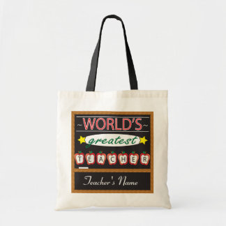 World's Greatest Teacher | DIY Name Budget Tote Bag