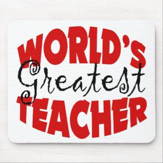 World's Greatest Teacher Gift Mouse Pad