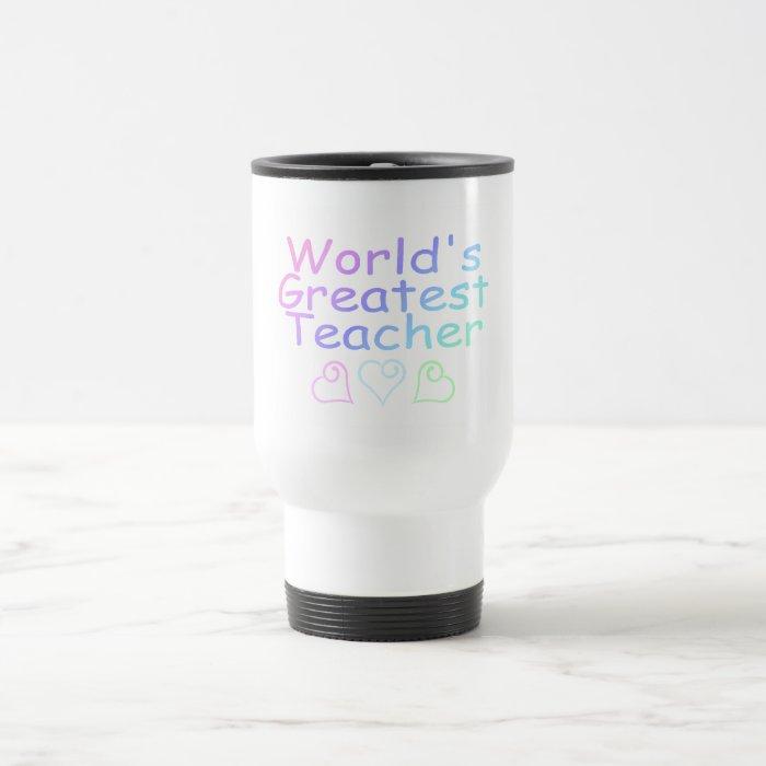 Worlds Greatest Teacher (Pastel) Travel Mug