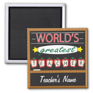 World's Greatest Teacher | Personalize Magnet