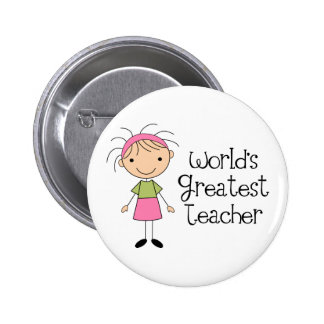 Worlds Greatest Teacher Pinback Button