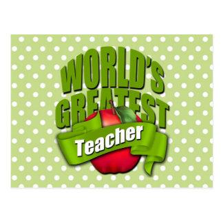 Worlds Greatest Teacher Postcard