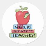 World's Greatest Teacher Round Sticker