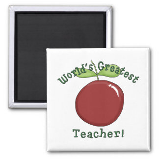 World's Greatest Teacher T shirts and Gifts 2 Inch Square Magnet